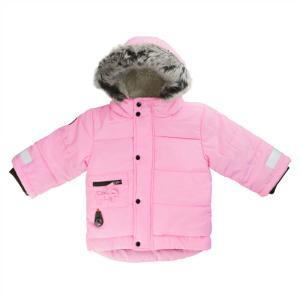 ベビー キッズ   Kushies クーシーズ  防寒スノー ジャケット アウター フード付き ボア ピンク 厚手 80 90 100  カナダ製 スキー  反射帯 コート ファー|apricos
