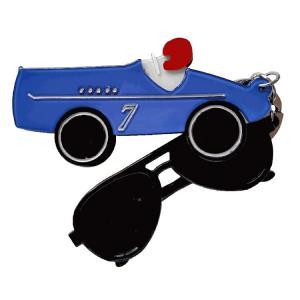 キッズ アクセサリー Adelaide New York レースカー キーホルダー 男の子 女の子 アクリル スワロフスキー ギフト プレゼント 車 apricos