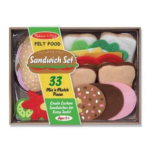 おままごとセット Melissa&Doug メリッサ&ダグ  サンドイッチセット デラックス 3歳 4歳 5歳 女の子 プレゼント キッチンセット 玩具 おもちゃ お料理|apricos