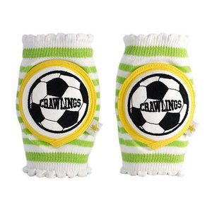ベビー ニーパッド CRAWLINGS 旧デザイン サッカー ベビー ニーパッド 膝当て サポーター ギフト プレゼント 出産祝い プレミアムコットン インポート 赤ちゃん|apricos