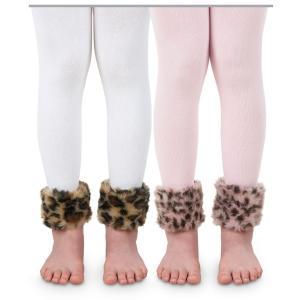ベビー キッズ  Jefferies socks ファー付き レギンス タイツ 女の子 ヒョウ柄 80-130cm apricos