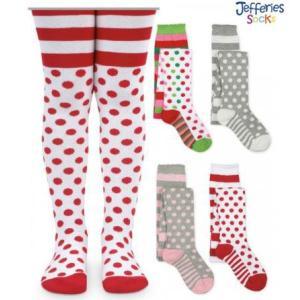 ベビー キッズ Jefferies socks ドット タイツ 水玉 厚手 女の子 apricos