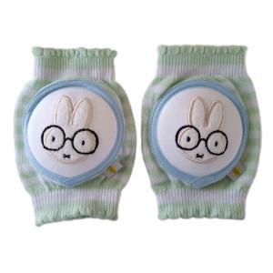 CRAWLINGS ニーパッド めがねうさぎ ベビー ニーパッド 膝当て サポーター ウサギ ギフト プレゼント 出産祝い プレミアムコットン インポート 赤ちゃん|apricos