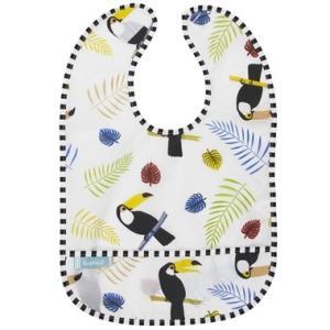 ベビー お食事ビブ  Kushies クーシーズ (12ヵ月〜) パラダイス  防水加工 ウォータープルーフ ビブ 離乳食 幼児食 保育園 幼稚園|apricos