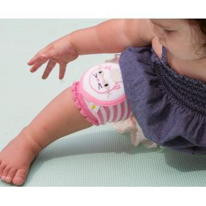 CRAWLINGS ニーパッド ベビー ニーパッド プリンセスキャット 膝当て サポーター 猫 ネコ ギフト プレゼント 出産祝い プレミアムコットン インポート 赤ちゃん|apricos