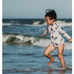 ベビー キッズ 水着 SwimZip  Palm 長袖 ラッシュガード水着セット キッズ水着 子供水着 海水浴 セパレート UVカット スイミング スイムジップ|apricos