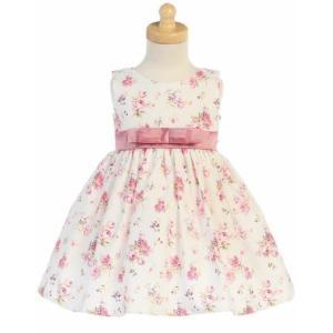 ベビー キッズ ドレス パーティードレス インポート Lito  リト ピンク小花コットンベビードレス 女の子  お祝い 発表会  記念撮影|apricos
