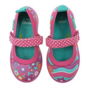 キッズ ベビー ストラップ シューズ 靴 CHOOZE チューズ メリージェーンシューズ Jump Enchant 女の子 ワンストラップ 花柄  apricos