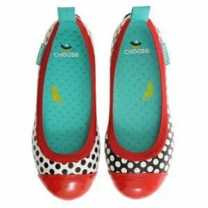 キッズ ベビー フラット シューズ 靴 CHOOZE チューズ  Dream POP Red 女の子 パンプス バレエ キッズ ドット 水玉 apricos