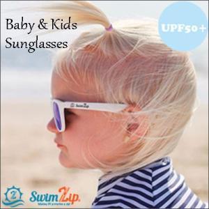 ベビー キッズ SwimZip サングラス 0-3才 UVカット 紫外線防止 軽量 おしゃれ BPAフリー 折り曲げ可能 割れにくい 海水浴 外遊び|apricos