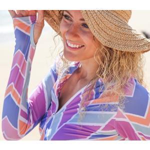 レディース 水着 SwimZip ロングラッシュガード Cali Girl スイムウェア 海水浴 スイミング UVカット  |apricos