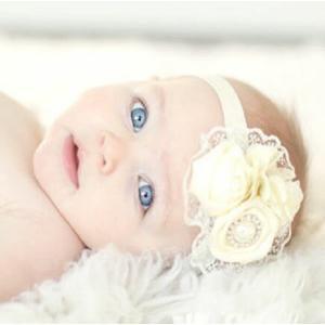 ベビー 新生児 サテンローズ レースヘアバンド パール 女の子 ヘアアクセサリー 記念撮影 セレモニードレス お宮参り お祝い|apricos