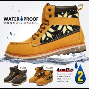 スノーブーツ 靴 メンズ ワークブーツ ブーツ 防寒靴 防水ブーツ メンズブーツ スノー レイン シューズ 2017 冬|apricot-town