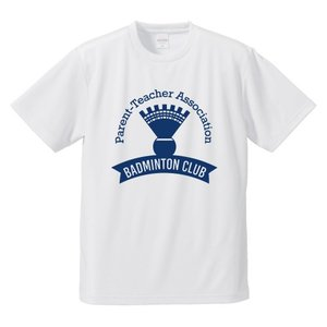 【名入れ】PTA バドミントン Tシャツ ドライ ウェア 練習着 チーム クラブ B501 送料無料|apricot-uns