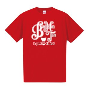 【名入れ】バドミントン Tシャツ ドライシルキー ウェア 練習着 チーム クラブ 全12色 B801 送料無料 5088|apricot-uns