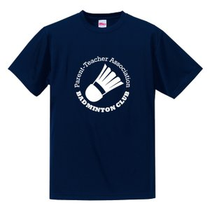 【名入れ】PTA バドミントン Tシャツ ドライシルキーウェア 練習着 チーム クラブ B602 送料無料 5088|apricot-uns