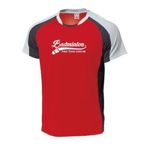 【名入れ】PTA バドミントン Tシャツ プラクティス ウェア 練習着 チーム クラブ B604 送料無料|apricot-uns