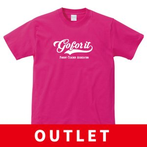 (アウトレット・現品限り) PTA ユニフォーム Tシャツ Gor for it トロピカルピンク Mサイズ|apricot-uns