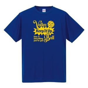 【名入れ】バレーボール Tシャツ ドライシルキー ウェア 練習着 チーム クラブ 全12色  V801 送料無料 5088 apricot-uns
