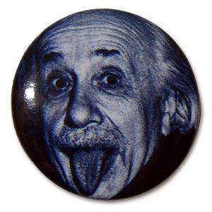 アインシュタイン(Albert Einstein)Tongue 缶バッジ/25mm【小物 雑貨 グッズ 缶バッジ】|aprilfoolstore
