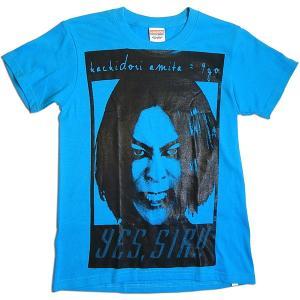 蜂鳥あみ太=4号:アミタッティー/ターコイズブルー/XSサイズ【ファッション グッズ Tシャツ】|aprilfoolstore