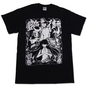 艶街:Tシャツ/ブラック×ホワイト/メンズ【ファッション バンド Tシャツ】|aprilfoolstore