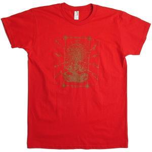 【送料無料】JOKE FACTORY(ジョークファクトリー):合同コント公演「極楽旅行」オリジナルTシャツ/レッド/レディース【ファッション お笑い Tシャツ】|aprilfoolstore
