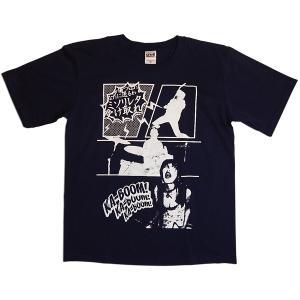 カミソリ☆彡レター:Tシャツ(購入特典缶バッジ付)/ネイビー/キッズL【ファッション バンド Tシャツ】|aprilfoolstore