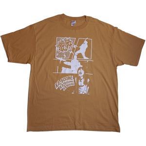 カミソリ☆彡レター:Tシャツ(購入特典缶バッジ付)/キャラメル/メンズ2XL【ファッション バンド Tシャツ】|aprilfoolstore
