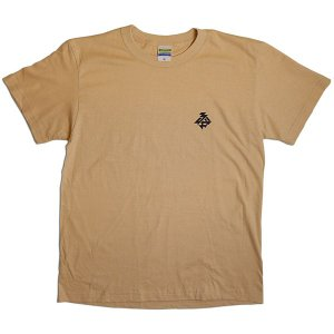驢馬:GUERRILLA LIKE A BOY バックプリントTシャツ/ベージュ/メンズM【ファッション バンド Tシャツ】|aprilfoolstore
