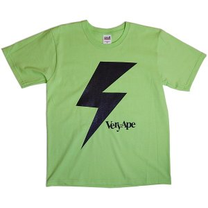 Very Ape(ヴェリーエイプ):「カミナリBOY」Tシャツ/キーライム/メンズ&レディース(キッズ)【ファッション バンド Tシャツ】|aprilfoolstore