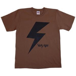Very Ape(ヴェリーエイプ):「カミナリBOY」Tシャツ/モカ/メンズ&レディース(キッズ)【ファッション バンド Tシャツ】|aprilfoolstore