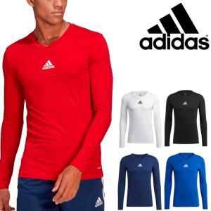 長袖シャツ メンズ アンダーウェア アディダス adidas TEAM LSベースレイヤー/スリムフィット インナー 男性 サッカー フットサル /22999【取寄】【返品不可】 APWORLD