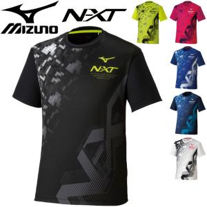 半袖 Tシャツ メンズ レディース/ミズノ mizuno N-XTプリント TEE/テニス ソフトテ...