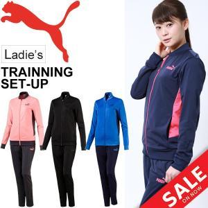 ジャ−ジ上下セット レディース/プーマ PUMA トレーニングスーツ/スポーツウェア ランニング エクササイズ/851960|apworld