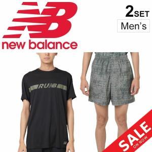 ランニングウェア 半袖Tシャツ 7インチショーツ 上下セット メンズニューバランス Newbalance マラソン レース 男性用 /AMT91162-AMS91186|apworld