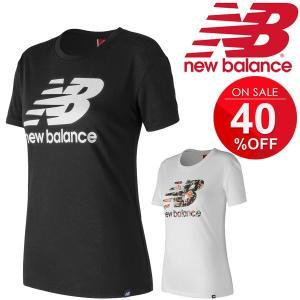 半袖Tシャツ レディース ニューバランス new balance ロゴT ランニング ジムトレーニング フィットネス スポーツカジュアル 女性用 ビッグロゴ/AWT73504|apworld