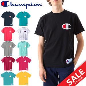 Tシャツ 半袖 メンズ チャンピオン champion ビッグロゴ Tシャツ ガーメントウォッシュ スポーツ 男性用 T-SHIRTS 全6カラー C3F362 正規品/C3-F362 apworld