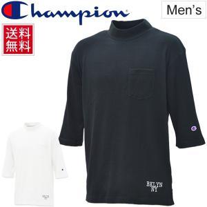 Tシャツ 5分袖 メンズ チャンピオン Champion ビッグTシャツ 男性用 キャンパスカジュアル カレッジテイスト ワッフル C3L303 正規品/C3-L303 apworld
