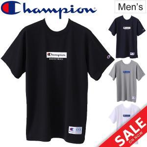 Tシャツ 半袖 メンズ チャンピオン champion バスケットボール スポーツ ウェア 男性用 C3K327 DRYSAVER T-SHIRT C-ODORLESS 正規品/C3-LB358|apworld