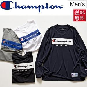 Tシャツ 長袖 メンズ チャンピオン champion DRYSAVER ロングT 男性用 バスケットボールウェア 練習着 移動着 抗菌防臭 バスケ トップス/C3-LB440 apworld