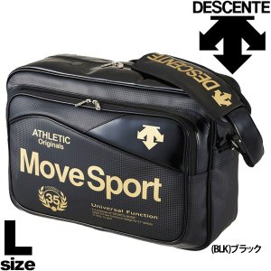 エナメルバッグ ショルダーバッグ メンズ レディース デサント DESCENT MoveSpors /カーボンクロス コンビショルダー Lサイズ DAC8710 かばん/DAC-8710|apworld