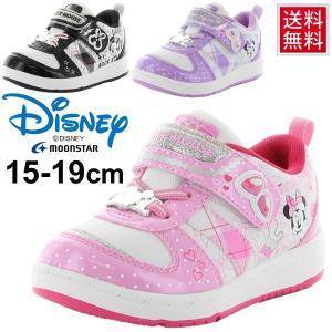 キッズシューズ 女の子 男の子 子ども/ディズニー Disney ミニー ミッキー スニーカー 15.0-19.0cm moonstar/DN-C1207|apworld