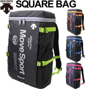 デサント バックパック DESCENT Move Sports スポーツバッグ 29L スクエア型 タテ型 リュックサック 試合 移動 通学 通勤 かばん カジュアル /DORC8389