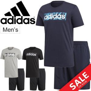 半袖Tシャツ ハーフパンツ 上下セット メンズ アディダス adidas M CORE リニア スポーツ トレーニング ウェア 男性用 半袖シャツ/FSR27-FSG42 apworld