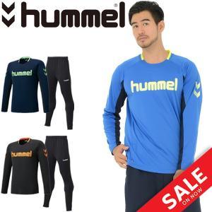 トレーニングウェア 上下セット メンズ レディース ヒュンメル Hummel L/Sプラクティスシャツ テックパンツ 上下組 スポーツウェア/HAP7115SP|apworld