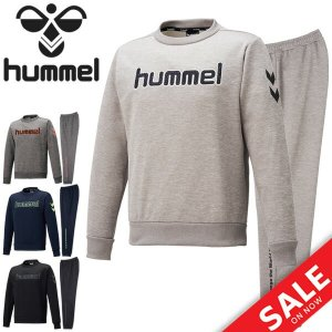 スウェット 上下セット メンズ レディース ヒュンメル Hummel スウェットシャツ クルーネック トレーナー ロングパンツ 上下組 /HAP8209C-HAP8209P apworld