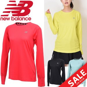 Tシャツ 長袖 レディース ニューバランス new balance R360 TEE/ランニングウェア マラソン ジョギング トレーニング フィットネス ジム/JWTR8627|apworld