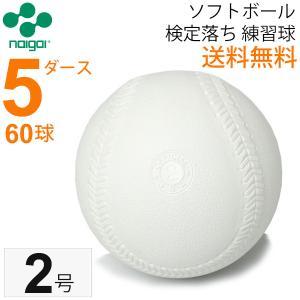 ナイガイ ソフトボール  検定落ち 2号  練習球  5ダース 60球/小学生用 送料無料 スリケン B級品 内外 NAIGAI|apworld