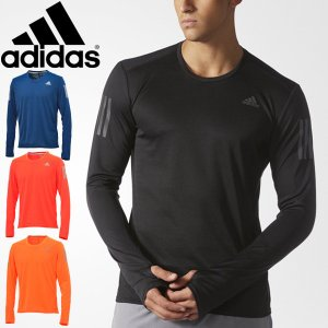 Tシャツ 長袖 メンズ アディダス adidas RESPONSE 男性用 ランニングシャツ ジョギング マラソン トレーニング 吸汗速乾 トップス スポーツウェア/NDX93 apworld